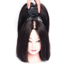 Allaosify, Синтетические длинные прямые волосы, Воздушная челка, черный, коричневый цвет, шпилька, челка, высокая температура, волоконные волосы, Топпер на заколках для наращивания
