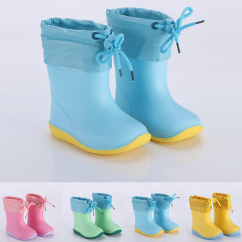 Solid Colour Rain Boots Kids
