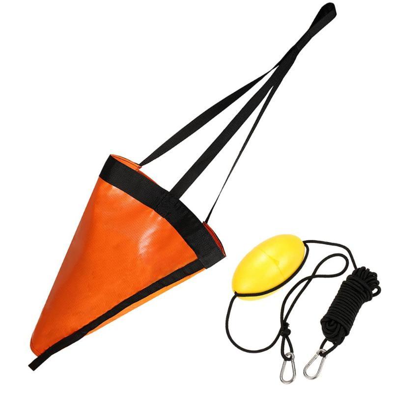 Sea Anchor Drogue Drift Sock+ 30ft Fishing Kayaking Drift Anchor Tow Rope