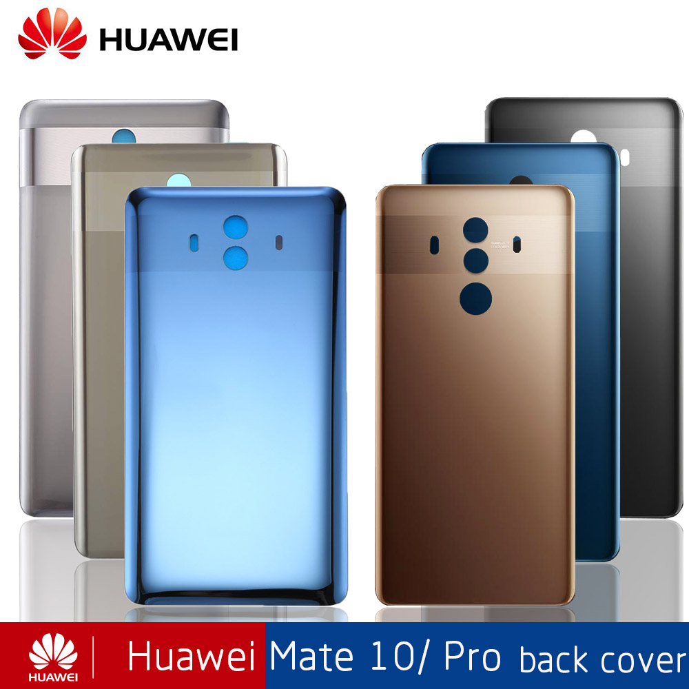 OEM Back Glass Battery Cover Rear Housing Door Case For 6'' Huawei Mate 10 Pro Housing Cover Case Mate 10 Replacement +Sticker