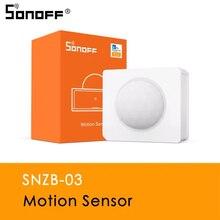 SONOFF ZigBee SNZB 03 hareket sensörü uyarısı bildirimi payı kontrolü akıllı ev cihazı ile çalışmak ZigBee köprü eWeLink APP IFTTT
