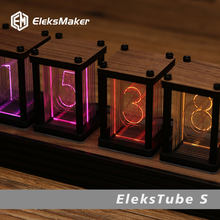 EleksMaker®Elekstube r 6-bit kit eletrônico led luminoso retro brilha analógico nixie tubo relógio elekstube