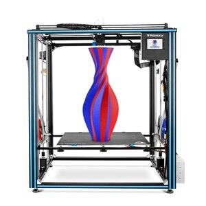 Image 1 - TRONXY büyük DIY 3D yazıcı Cyclops 2 çift renkli ekstruder isı yatak dokunmatik ekran büyük boy 500*500*600mm X5SA 500 2E
