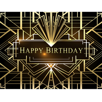 The Great Gatsby Photography Backdrops Gatsby Happy Birthday Party Banner Decoration photo background Studio Shoots great gatsby