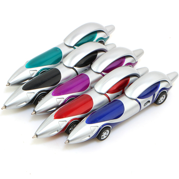 цена на Funny Novelty Racing Car Design Ballpoint Pen  Portable Ball Pens For Child Kids Toy Drawing Toys Gift Office