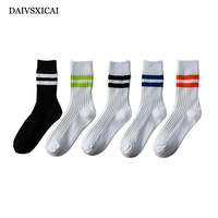 2Pairs/lot=4pieces Autumn Winter Long Tube Socks Fashion Mens Business Solid Color Imitation Wool Socks Male