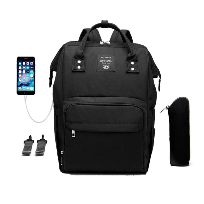 Diaper Bag Multifunction Travel BackPack USB Waterproof Nursing Bag Maternity Stroller Bag Large Capacity Baby Nappy Backpack