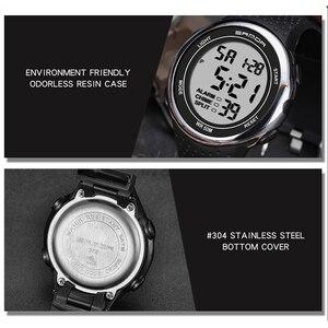 Image 4 - Su geçirmez dijital saat erkekler alarmı saat tarih hafta ekran spor elektronik saatler Luminacence modları relogio masculino SANDA