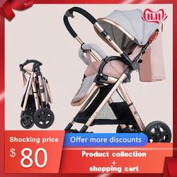 Cochecito de bebé de dos vías cochecito de bebé paraguas ultra ligero cochecito plegable portátil carrito en el avión