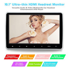 "10,1 ""HD externa reproductor de DVD del coche reposacabezas Multimedia a Monitor para asiento Kit 1080P Video coche accesorios(China)"