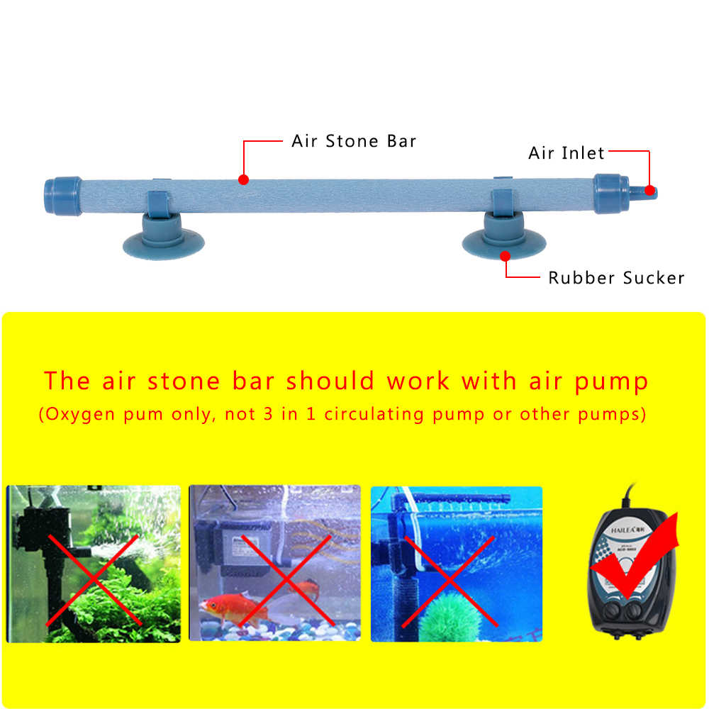 Tylu 10 Inches Aquarium Bubble Bar Aquarium Oxygen Bar Stone Diffuser Bar Oxygen Pump Sand Head Bubble Stone