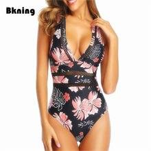 Maillot de bain une pièce imprimé Floral, Patchwork, résille, Push-Up, Monokini Tropical, pour femmes, vêtements de plage, s-xl, tendance 2020