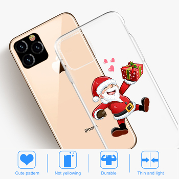 Merry Christmas Case For iPhone 11 Pro Max 7 8 10 6 6S Plus Clear Soft Phone Case For iPhone XR XS X Xs Max TPU Silicone Cover 1