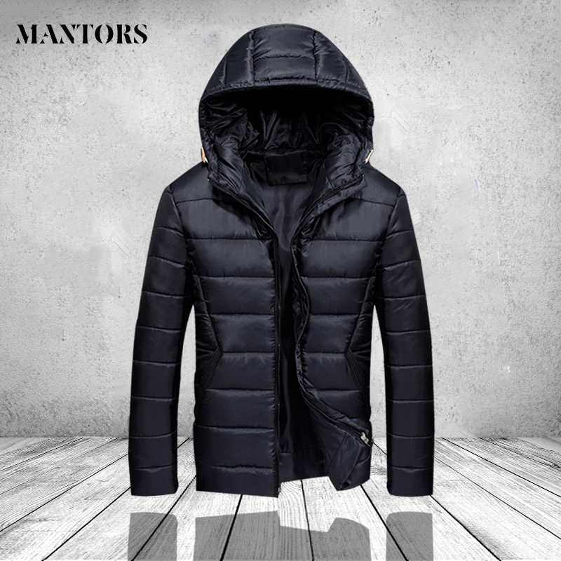 2019 Winter Jacket Men Hooded Slim Korean Jacket Coat Fashion Cotton Youth Clothing New High Quality Winter Warm Zipper Coats
