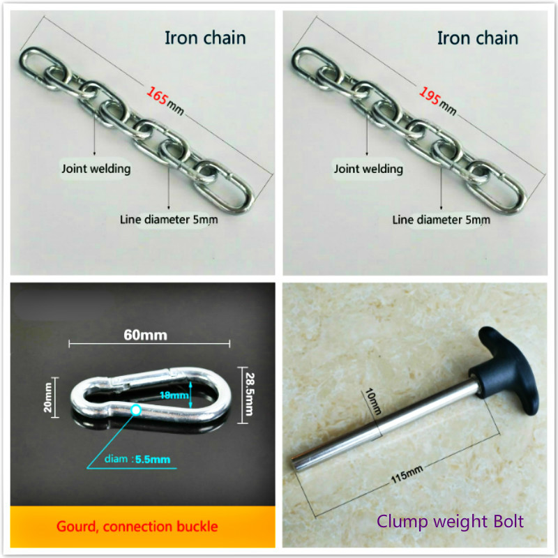 Gym Accessories Metal Chains Bolts Gourd Buttons Fitness Equipment Joints Anaerobic Exercise Wire Rope Iron Chain