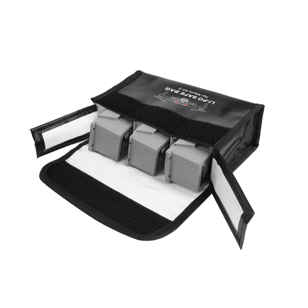 Drone Battery Safe Bag Mavic Air 2 Lipo Fireproof Case Explosion proof Battery Storage Bag for