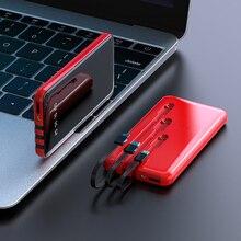 Przenośny 30000 MAh Power Bank pełny ekran 3 USB szybkie ładowanie zewnętrzna bateria Powerbank dla Samsung xiaomi iphone