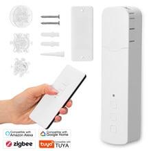 Tuya ZigBee M515EGZT Pull Bead Curtain Motor Remote Voice Control Electric Curtain Motors Compatible with Alexa Google Home