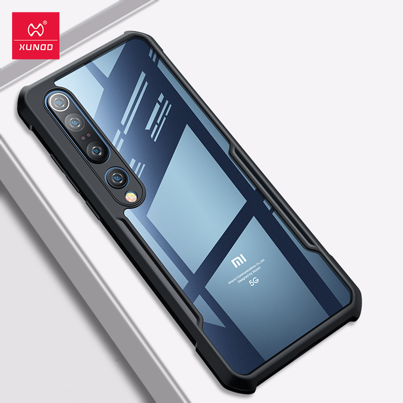 XUNDD Shockproof Phone Case For Xiaomi Mi10 Case Protective Cover Airbag Bumper Transparent Shell Soft For Xiaomi Mi10 Pro Case