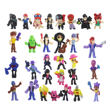 30Pcs/Lot Brawl Star Figure Toys Amine Game Poco Shelly Nita Colt Jessie Brock Collectiable Block Model Toy For Children Gifts