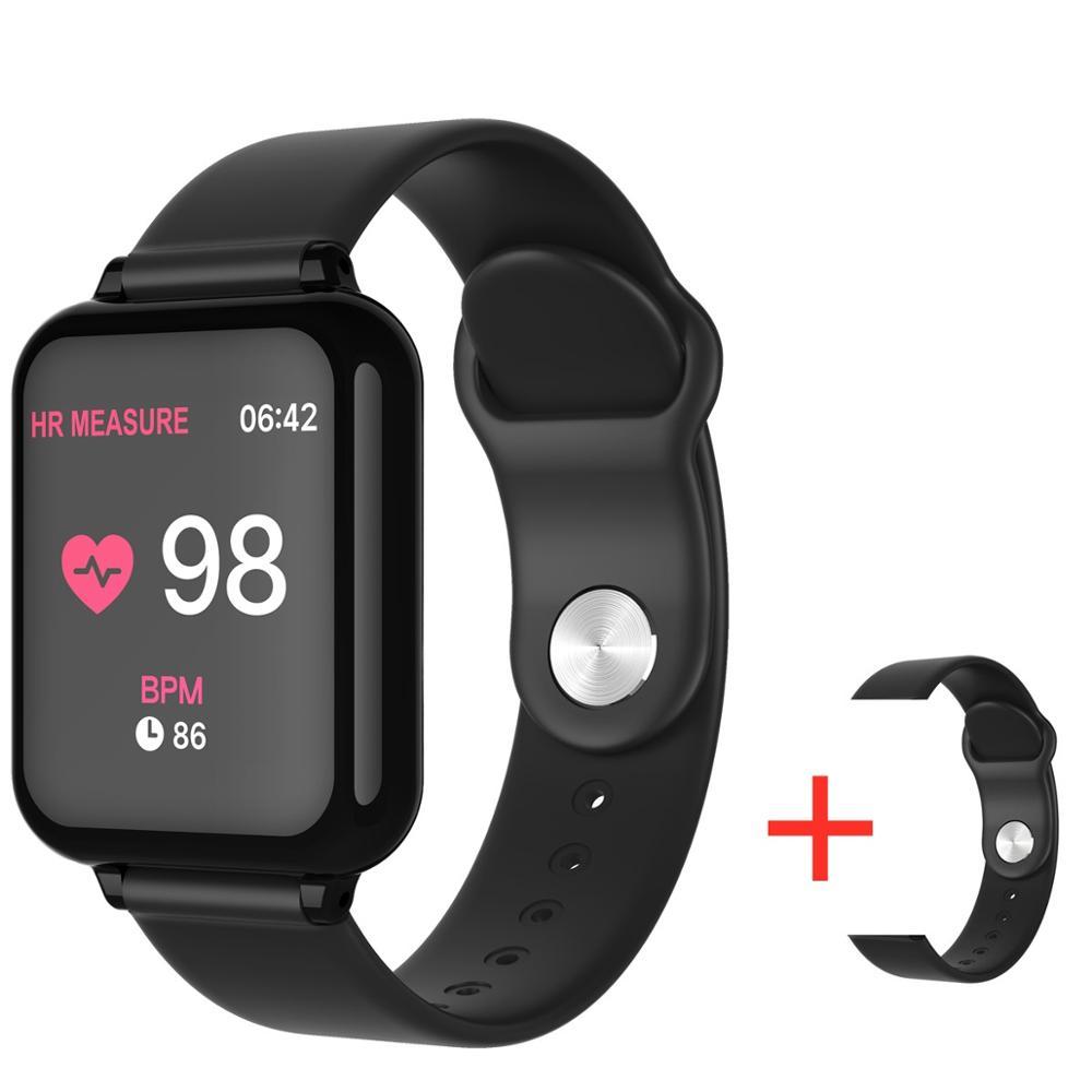 B57 Relógio À Prova D' Água Sports Watch Heart Rate Monitor de Pressão Arterial Inteligente Smartwatch Para Android IOS