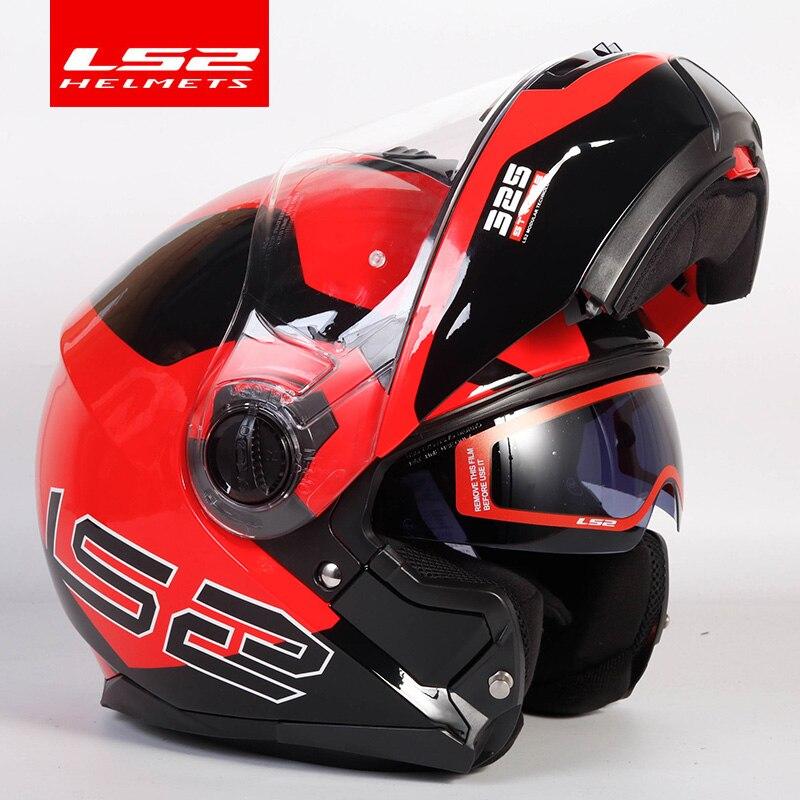 Image 2 - Original LS2 STROBE flip up motorcycle helmet ls2 ff325 full face helmets capacete cascos moto casque DOT approvedHelmets   -