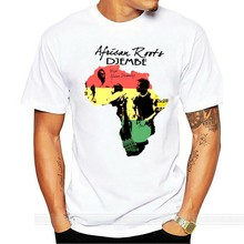 Africa T-Shirt African Map Black History Rastafari Reggae Cotton Tee NEW shubuzhi Short Sleeve Cotton T Shirts Man Clothing(China)