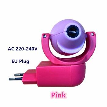 Star Moon Animal Projector LED Projector 6 Images Sensor  EU Plug Night Light Lamp For Kids Children Baby Bedroom Decoration - Pink