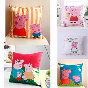 Peppa pig cânhamo travesseiro caso brinquedos de pelúcia 2020 crianças brinquedos sofá almofada abraço peppa george porco recheado travesseiro de pelúcia bonecas crianças brinquedo presente