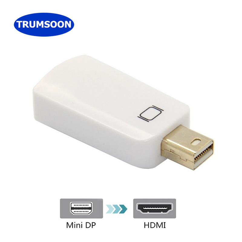 Trumsoon Mini DP To HDMI DVI DP Adapter Converter Thunderbolt 2 To HDMI Cable 1080P For Mac Macbook Pro Air TV