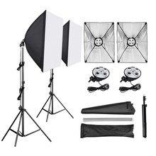 Estúdio fotográfico softbox, difusor 4 em 1, 50*70cm, suporte de lâmpada e27, 2m de suporte de luz, tripé kit de estúdio de fotos para vídeo fotografia