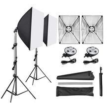 Zdjęcie studio softbox 50*70cm dyfuzor 4 w 1 gniazdo E27 uchwyt lampy 2M statyw oświetleniowy zestaw do studia fotograficznego dla fotografia wideo