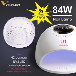 Image 2 - 84 Вт лампа для ногтей, быстро сохнут, canni Светодиодный УФ лампа для сушки лака 30s/60s/120s лампы для ногтей для био Гели Soak Off УФ светодиодная лампа для сушки ногтей