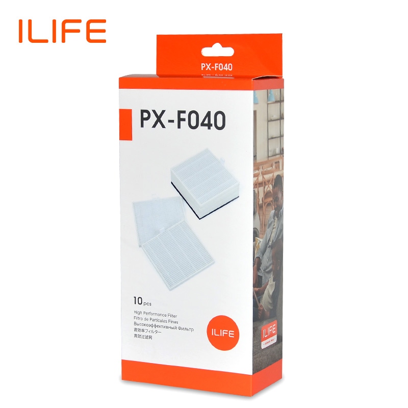 ILIFE V8s 10 PCS Filters Pack Replacement Kits For Robot Vacuum PX-F040