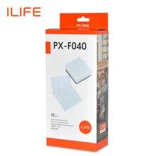 Ilife filtros de substituição v8s/v8 plus, kit com 10 peças de kits para robô a vácuo PX F040