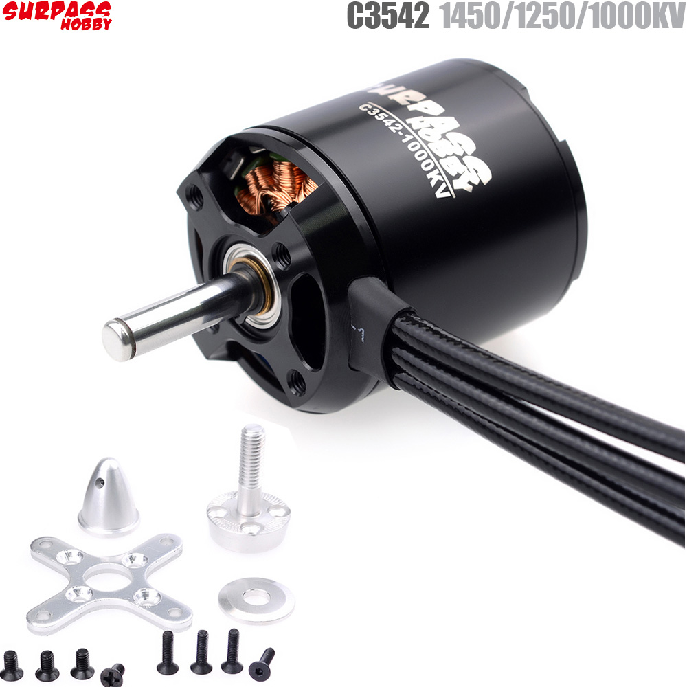 SURPASS HOBBY 2820 C3542 1450KV 1250KV 1000KV Brushless Motor For RC Airplane Fixed-wing Glider Aircraft