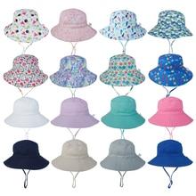 Sun-Hat Chin-Strap Hats Beach-Cap Uv-Protection Girl Baby 0-8-Years Boy Adjustable