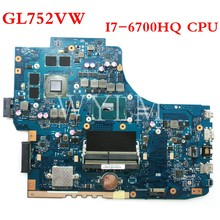 ROG GL752VW motherboard With I7-6700CPU N16P-GX-A1 mainboard REV2.0/REV2.1 For ASUS GL752V GL752 laptop motherboard Tested OK(China)