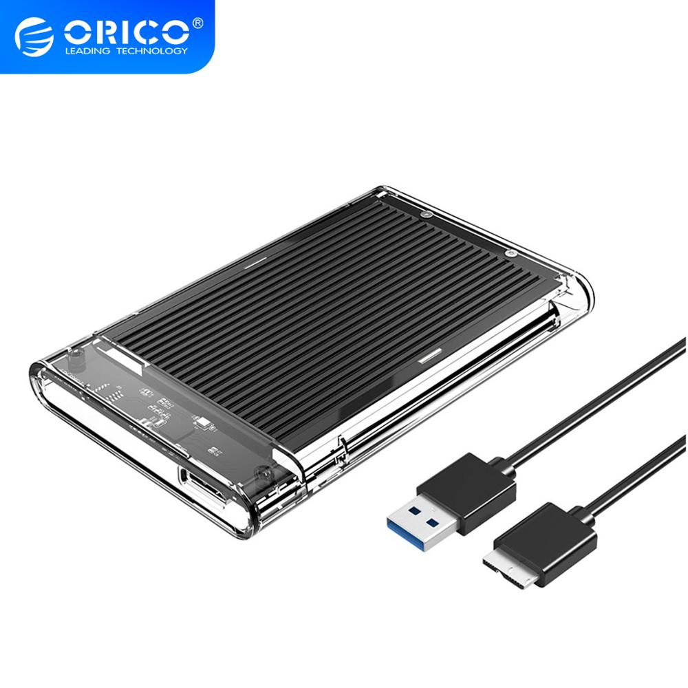 ORICO HDD Case SATA To USB 3.0 Transparent & Aluminum Hard Drive Enclosure For HDD SSD Disk 5Gbps HD 2.5 Inch External HDD Box