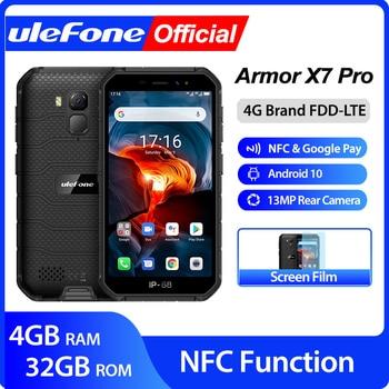 Ulefone Armor X7 Pro Android10 téléphone robuste 4GB RAM Smartphone étanche téléphone portable ip68 NFC 4G LTE 2.4G/5G WLAN 1