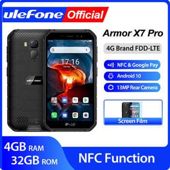 Ulefone Armor X7 Pro Android10 Robuuste Telefoon 4Gb Ram Smartphone Waterdichte Mobiele Telefoon Mobiele Telefoon Ip68 Nfc 4G lte 2.4G/5G Wlan