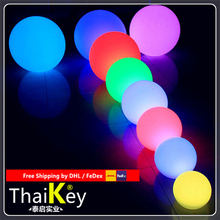 Magic RGBW led outdoor diameter 25cm rechargeable Glowing Sphere free shipping magic rgb led ball outdoor diameter 20 cm rechargeable glowing sphere waterproof pool color changing light ball