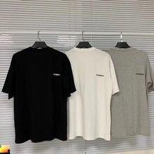 2020 casual casal vetements t camisa pequeno bordado logotipo volta colar tonal vtm masculino feminino camiseta transporte da gota