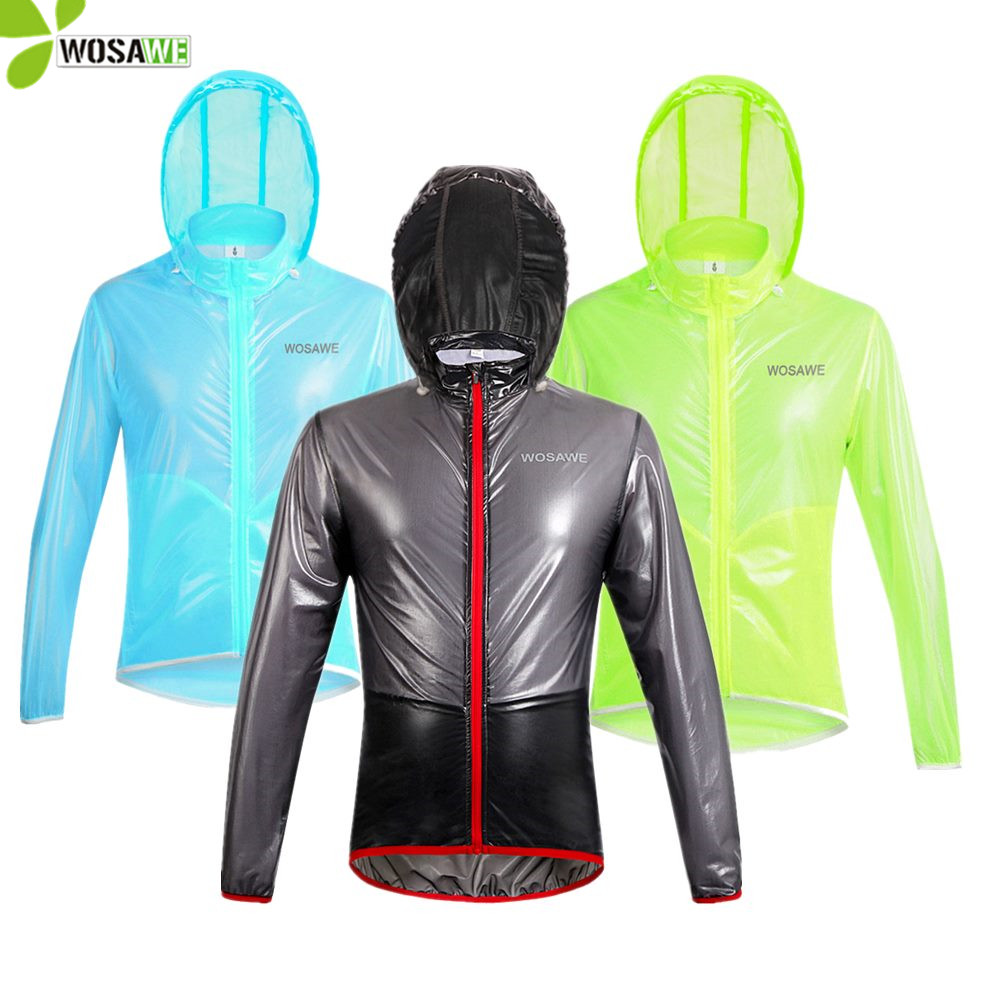 Bike Bicycle Ultra-thin Windbreaker Raincoat Long Sleeve Cycling Jacket S-3XL