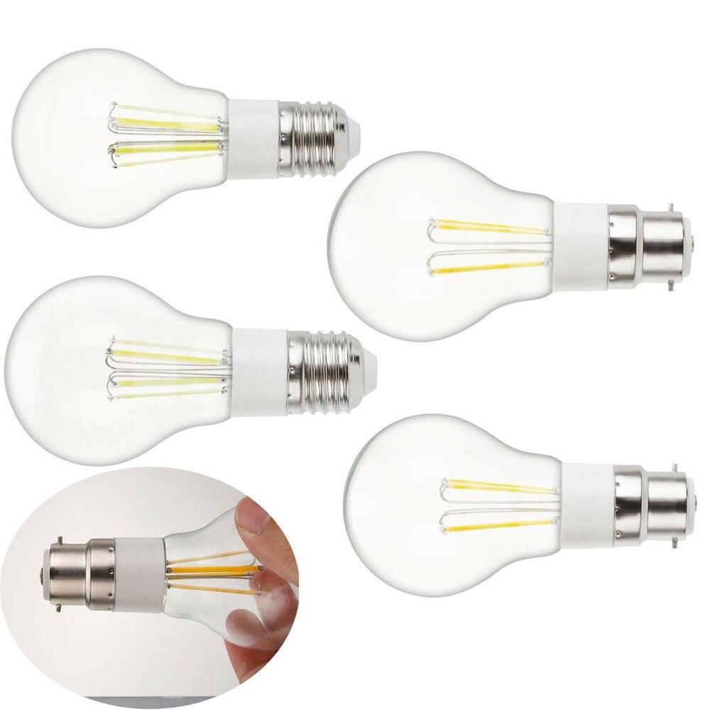 Bombilla de filamento LED E27 B22 3W 4W 6W Retro lámpara Edison DC 12V Vintage bombilla de luz con forma de vela lámpara incandescente Luz LED de techo Yeelight 480, APP inteligente, WiFi y Bluetooth, luz de techo, control remoto para sala de estar y Google Home