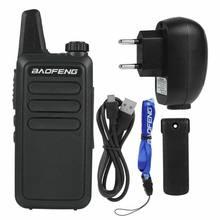 BF-R5 para baofeng walkie-talkie mini rádio mãos-livres portátil display lcd dc 3.7v walkie-talkie
