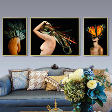 Goddess Of The Moth Mask Fashion Photography Canvas Art Prints And Living Room Decor For Poster(China)