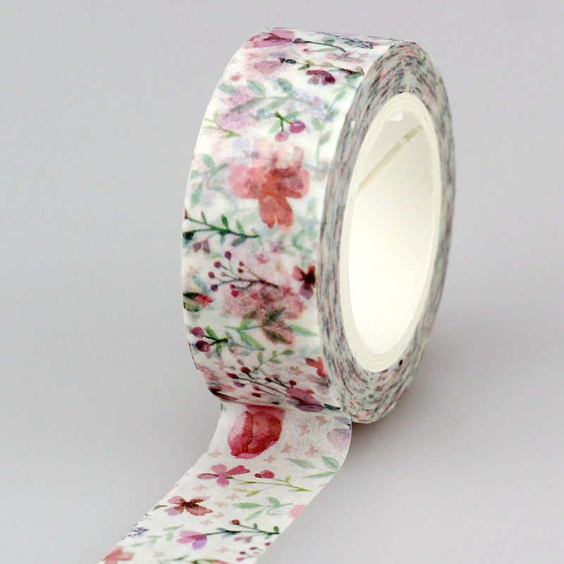 10pcs/lot Decorative Cherry Blossoms Washi Tapes Flowers DIY Scrapbooking Planner Adhesive Masking Tapes Kawaii Stationery