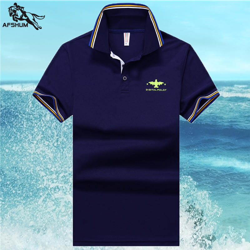 Summer New Men POLO Shirt High Quality Men's Cotton Short Sleeve Solid Color Printing Leisure Business POLO Shirt Size M-3XL 4XL