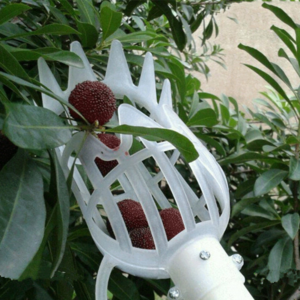 Greenhouse Plastic Fruit Picker Catcher Fruit Collection Picking Tool Farm Fruit Catcher Device Garden Picking Greenhouses Tool